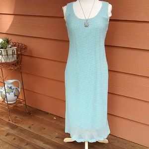 Dressbarn Dress in Aqua Polka Dots